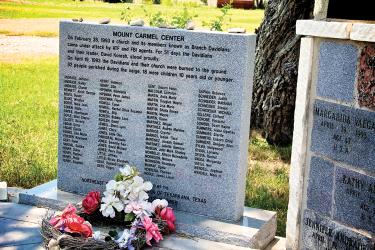 The names of lives lost during the massacre