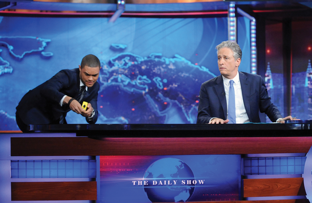 With Host-in-waiting Trevor Noah