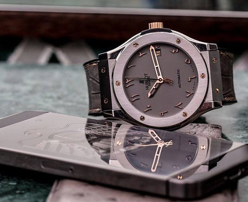 The limited edition Hublot Dubai Editions of the Vision 2