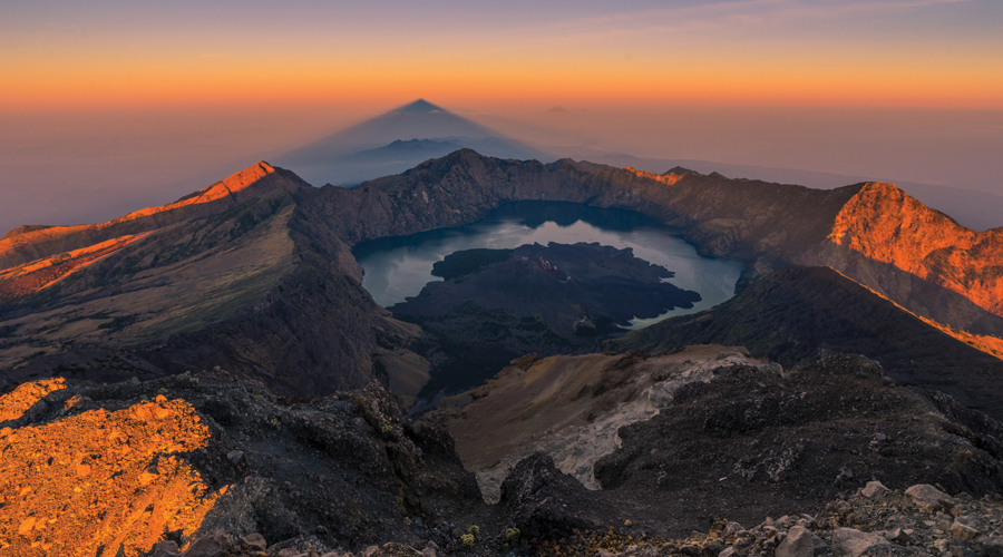 Top view of Rinjani summit